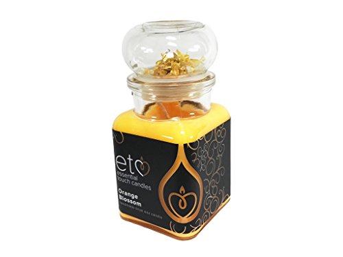 Essential-kaars, sojawas, natuurlijk, Orange Blossom geurkaars in glas, geur oranje