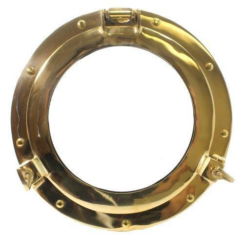 11' Brass Porthole Window: Maritime and Nautical Decor…