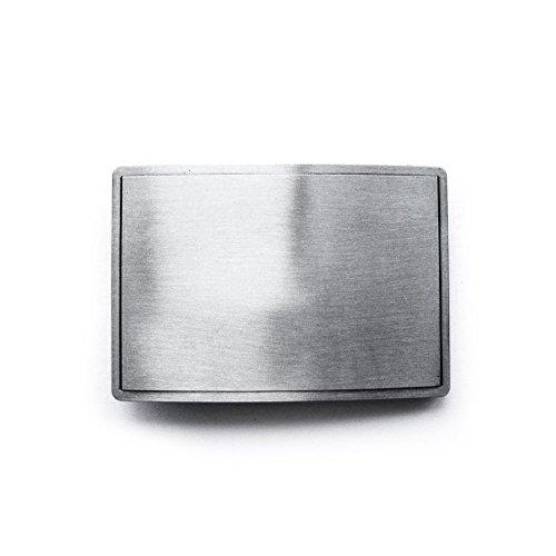 eeddoo® Gürtelschnalle Classic - Silber (Buckle für Wechselgürtel für Damen und Herren | Belt Frauen Männer Oldschool Rockabilly Metall Gothic Wave Rock Biker Western Trucker Casino Skull)