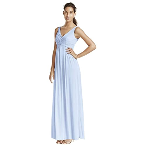 d7951d6f21c David s Bridal Long Mesh Bridesmaid Dress with Cowl Back Detail Style F15933