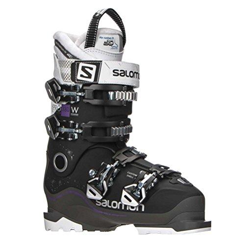 Salomon X Pro X80 CS ski-laarzen voor dames, zwart/antraciet/wit, 26.5