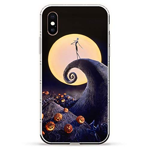 X-Art Transparent Fundas Slim Liquid Flexible Case Back Cover For Apple iPhone XS-Christmas-Nightmare Jack-Skellington 6
