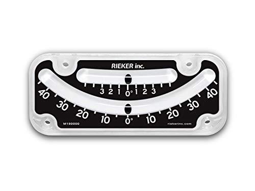 Rieker Military Grade Shatter-Proof ±45º Inclinometer, Dual Scale Multi-Purpose Angle Indicator 2145-05-A