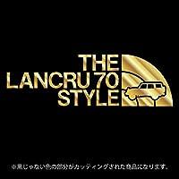 ランドクルーザー70(ランクル70)ステッカー THE LANCRU 80 STYLE【カッティングシート】パロディ シール(12色から選べます) (ゴールド)