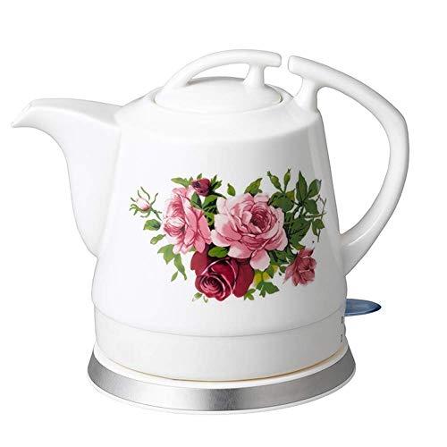 Bouilloires en céramique bouilloire électrique sans fil eau Teapot, 1.2L Teapot-Retro Jug rapide 8bayfa