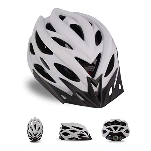 RUSTOO Mountain Bike Helmet,With Detachable Sun Visor and Tail Light Adjustable, Comfortable Lightweight Cycling Mountain & Road Bicycle Helmets, unisex