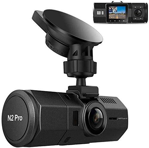 1080P 60fps Front And 1080P Inside Dashcam N2 Pro Uber Dual Lens Dash Cam Infrared Night Vision 2 5K 1440P 30fps 310 Degree Car Camera 24 Hours Motion Detection Parking Mode External GPS Uptodat