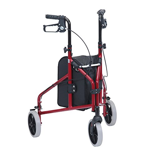 Drive DeVilbiss Healthcare TW008R-23 Ultralight Aluminium Red Tri-Walker with...