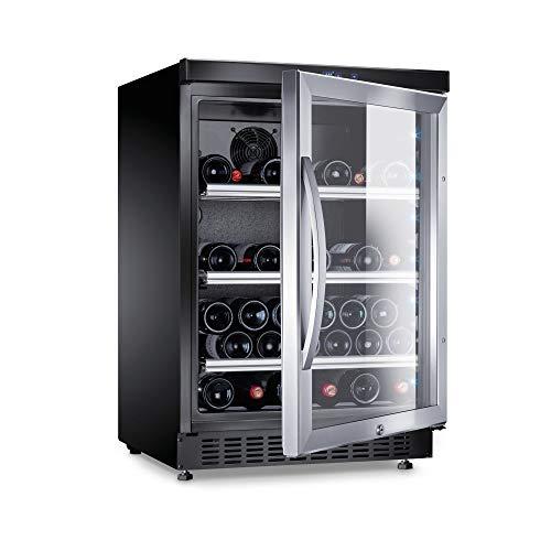 DOMETIC 9600001934 Weinkühlschrank/a/86.3 cm/52 Flaschen Kühlteil/Ideal für die kurzzeitige Lagerung von Tafelweinen geeignet/lautloser Betrieb