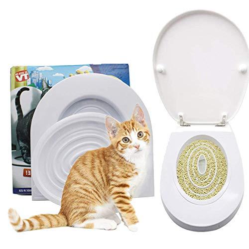 ALTINOVO Kit de Entrenamiento para Gatos, Cat Toilet Training Alternativa a la Arena para Gatos Ayuda a Entrenar a tu Gato para Usar el Inodoro