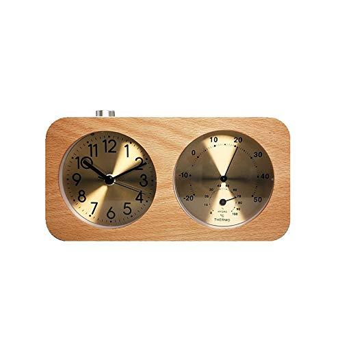Despertador Analógico Familia Bebé Temperatura Ambiente Higrómetro Registro Mudo Despertador Despertador Luminoso Despertador De Cabecera (Color :...