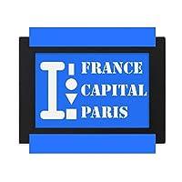パリ首都 デスクトップフォトフレーム画像ブラックは、芸術絵画7 x 9インチ
