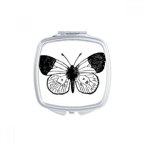 DIYthinker Cerf-Volant Papillon Rose carré Maquillage Compact Miroir de Poche Portable Mignon Petit Cadeau Miroirs Main Multicolor