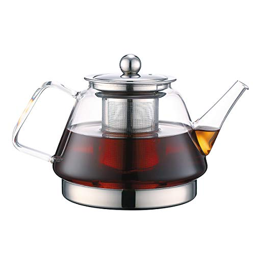 Clear Glass Tea Kettle with Infuser