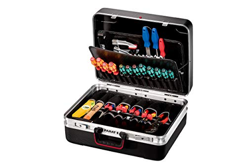 Parat SILVER KingSize Werkzeugkoffer (2 Schlüssel, 1 Längssteg 3 Querstegen, 49 x 40 x 21,50 cm, ohne Inhalt) 535.000.171