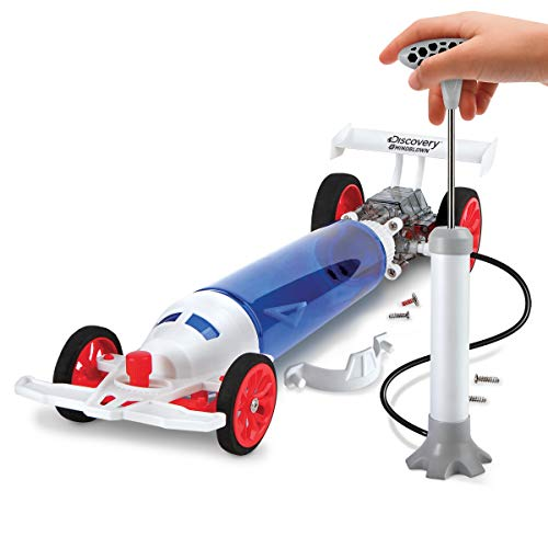 Discovery Kids STEM Turbo Air Racer DIY Air-Powered Dragster Kit