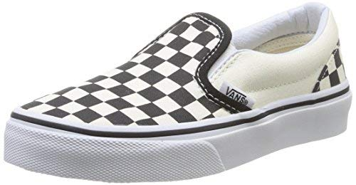 Vans Kids' Classic Slip-ON-K, Checkerboard/White, 2 M US Little Kid