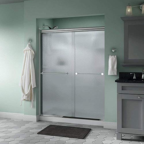 Delta Shower Doors SD3172271 Trinsic Semi-Frameless Traditional Sliding Shower Door 60in.x70in, Chrome Track