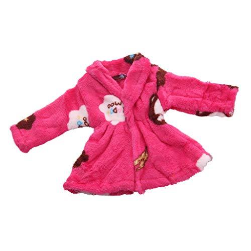B Blesiya Modepuppe Kleidung Plüschmantel Pyjamas Outfits für 18 Zoll Amerikanische Mädchen Puppen - C