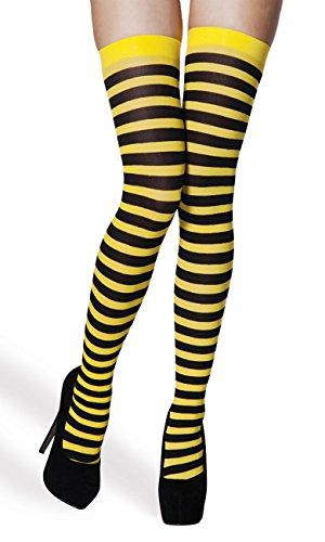 Medias amarillas con rayas negras