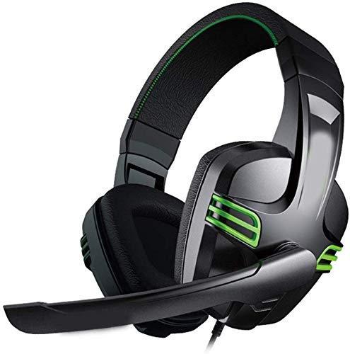 SILOLA Auriculares con Cable Gaming Headset PC Gamer Auriculares estéreo con micrófono para computadora, Juegos, música