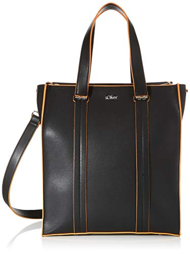 s.Oliver RED LABEL Damen Eleganter Shopper in Paperbag-Optik black 1