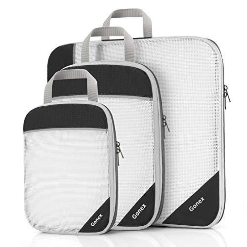 Gonex Kleidersäcke (können auch als Tasche und Reiseveranstalter verwendet werden) Klein, mittel, groß, X-groß Schwarz