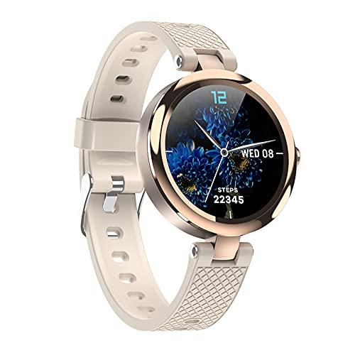 QFSLR Smartwatch Reloj Deportivo con Ciclo Menstrual Femenino Monitor De Frecuencia Cardíaca Monitor De Presión Arterial Monitoreo De Oxígeno En Sangre Monitor De Sueño,Oro