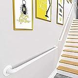 Stootrel Pasamanos para Escaleras Barandilla Montada Pared Ático Barandas 300CM Escalera Barandilla De Hierro Forjado Antideslizante para Interior y Exterior