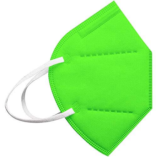 Modaworld 25 Stück Erwachsene, 5 Lagige Staubdicht Mund-Nasen Bedeckung Atmungsaktiv Stoff Bandana Halstuch Schals Mund-Nasen-Schutz (20Stücke, Green)