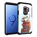 Galaxy S9 Case, IMAGITOUCH 2-Piece Style Armor Case with Flexible Shock Absorption Case & Harry Potter Hedwig Owl Design Cover Hybrid for Samsung Galaxy S9-Harry Potter Owl Hybrid