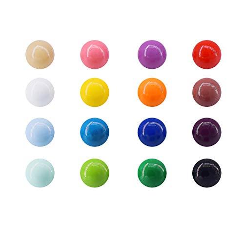 Magnetpro 16 mm Sphäre Whiteboard Magnete, 16 Stück Magnet Kunststoffmagnet Kegelmagnete Kühlschrank Magnete für Magnettafel, Whiteboard, Pinnwand