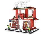 General Jim's 282 Piece Toy City Street Creator Sister Karen's Fried Chicken Restaurant Building Blocks Toy Bricks Set