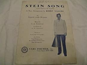 STEIN SONG RUDY VALLEE 1930 SHEET MUSIC SHEET MUSIC 364