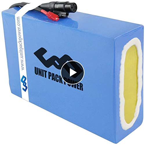 UNIT PACK POWER UPP Ebike Battery 48V - Electric Bike Battery for 1000W/750W/500W Bicycle DIY - Lithium ion Battery for Go Kart E Scooter (48V 20Ah)