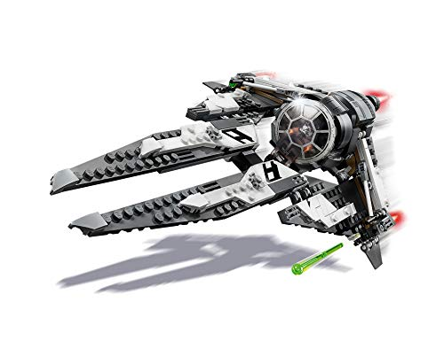 LEGO 75242 Star Wars Black Ace Tie Interceptor Starfighter Set Includes mini BB-8 and Poe Dameron Minifigures, Resistance TV Show, Multi-Colour