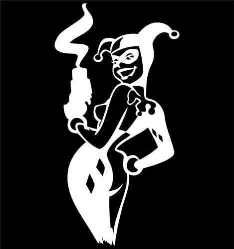 VDC | Harley Quinn Smoking White Vinyl Car/Laptop/Window/Wall Decal
