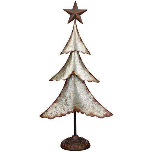 Regal Art & Gift 11979 Galvanized Tree 29 Statue, Silver