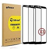 [2 Packs ] Topnow OnePlus 5T protection d'écran, 2.5d une couverture complète film de protection d'écran en verre trempé dureté 9H pour One Plus 5T -- Noir Black