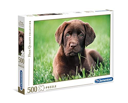 Clementoni- Puzzle 500 Piezas Perrito Chocolate (35072.8)