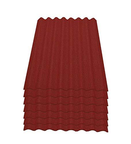 Onduline Easyline Dachplatte Wandplatte Bitumenwellplatten Wellplatte 7x0,76m² - rot