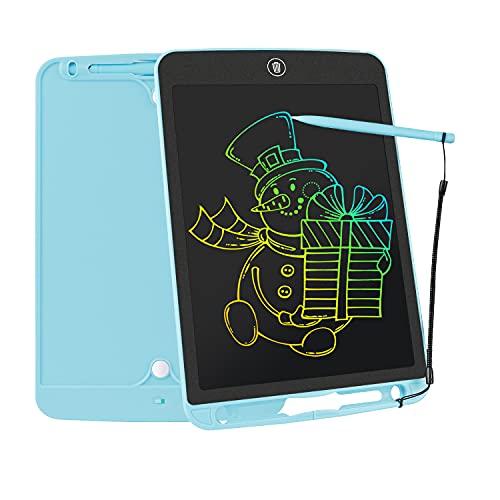 LCD Writing Tablet, 10 Zoll Bunte Bildschirm Doodle Zeichenbrett für Kinder,Digital LCD Schreibtafel Kinder Spielzeug, Wiederholtes Schreiben Und Zeichnen für 3-8 Jahre Mädchen & Jungen Geschenke