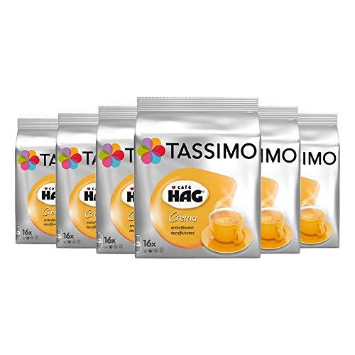 Tassimo Caf? HAG Crema Decaffeinated, Pack of 6, 6 x 16 T-Discs