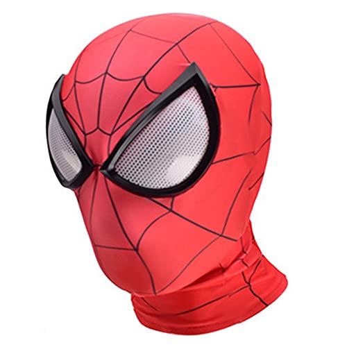 Ultimate Spider-Man Mask Boy Cosplay Headgear Halloween Fancy Dress Hats Carnaval Que Cubre La Cabeza Full Face Tocado De Superhéroe Avengers Accesorios Props,Red-Kid