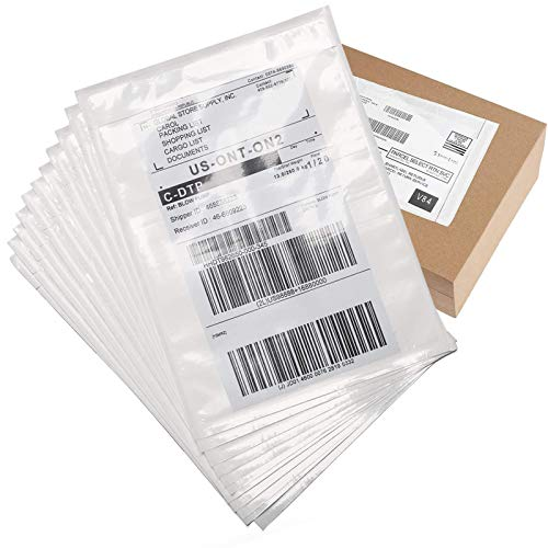 """Metronic 7.5"""" x 5.5"""" 200Pack Adhesive Packing List Envelopes Pouch Shipping Label Envelopes for Shipping Label For Mailing Bag Box"""