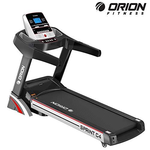 """Heimtrainer Fitnessgerät bis zuhause elektrisches Klappbar Laufband Orion Sprint C4, automatische Steigung auf 15 Ebenen, 5\"""" LCD-Computer, Höchstgeschwindigkeit 15km/h,Motor mit 3PS (4PS)"""
