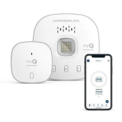 Smart Garage Door Opener - Wireless & WiFi Garage hub with Smartphone Control, New Model, White, New Design