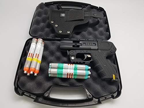 4 Shot LE Pepper Spray Gun with LED Laser Bundle and Holster