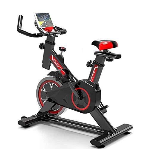 GJQGYY Bicicleta Estatica Interior,Equipo de Entrenamiento de Entrenamiento Cómodo Cojín Sillín,Altura Ajustable, Soporte para Tableta, Unisex para Gimnasio de Oficina en Casa