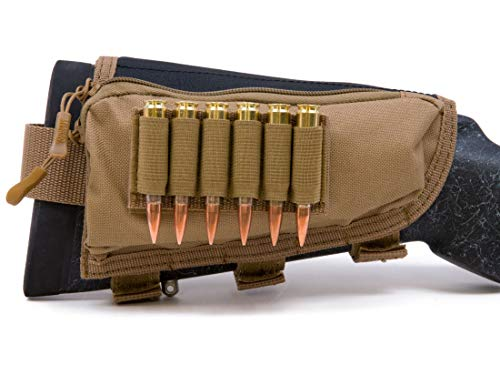 MidwayUSA Pro Series Right Hand Rifle Cheek Rest with Ammunition Carrier.